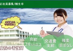【桐生市】病院の病棟看護スタッフ【JOB ID:231-1-ns-f-ns-bbb】 イメージ
