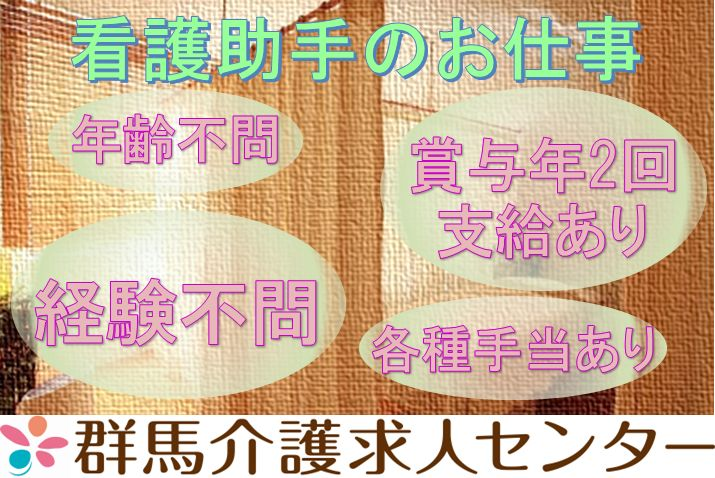 【深谷市】病院の看護助手【JOB ID:400-1-ch-f-ms-kyo】 イメージ
