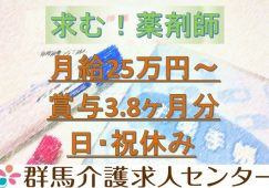 【館林市】病院の薬剤師【JOB ID:502-1-yz-f-yz-nor】 イメージ