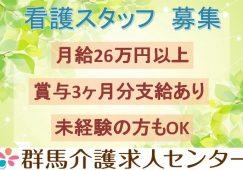 【富岡市】住宅型有料老人ホームの看護スタッフ【JOB ID:241-30-ns-f-ns-nor】 イメージ