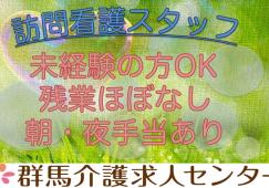 【前橋市】住宅型有料老人ホーム内の訪問看護スタッフ【JOB ID:418-1-hns-f-jn-bbb】 イメージ