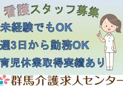 【高崎市】住宅型有料老人ホームの看護スタッフ【JOB ID:487-4-ns-p-jn-nor】 イメージ