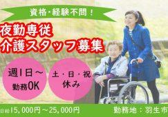【羽生市】老人介護施設/障害者支援施設の夜勤専門介護スタッフ【JOB ID:101-2-ca-yp-ms-nor】 イメージ